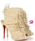 Christian Louboutin Deva 120 Suede Fringed Boots