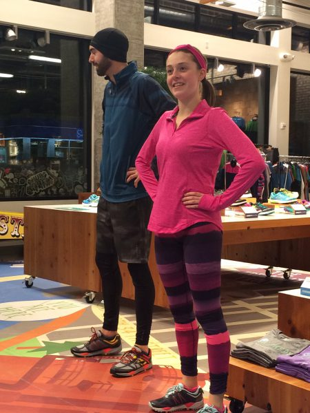 Brooks' employees modeling Spring styles