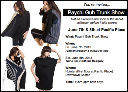 Paychi Guh Trunk Show at Pacific Place June 7th & 8th