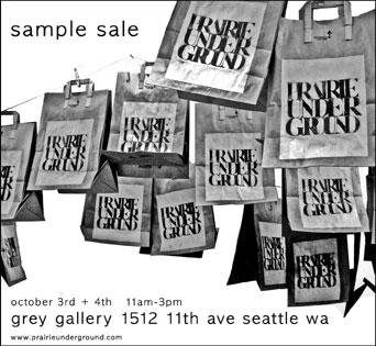 Prairie Underground Sample Sale