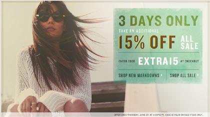 Shopbop Sale - Save 15%