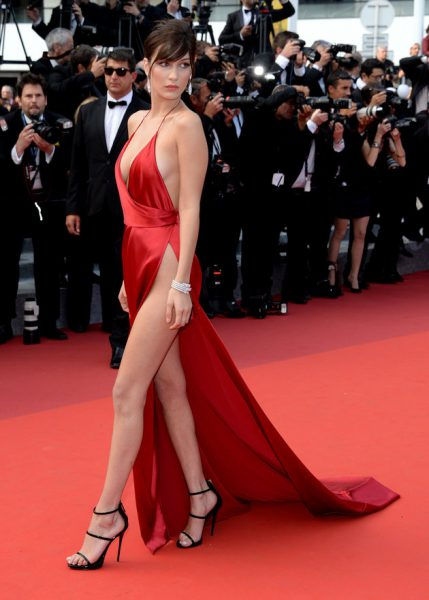 Bella Hadid made international headlines with her shows stopping slit dress at the Cannes film festival.