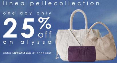Save 25% on the Linea Pelle Alyssa