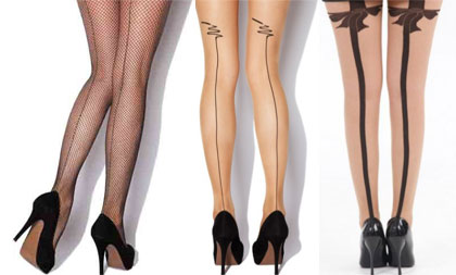 Hosiery Trend: Back Seam Tights