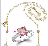 Breast Cancer Awareness Jewelry: The Grace Sterling Silver Pink CZ Ring