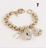 J Crew Snow sparkle charm bracelet