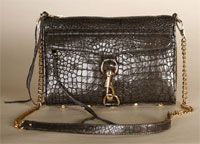 Rebecca Minkoff Croc Embossed Morning After Clutch