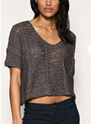 Kookai Chunky Yarn Crop Knit