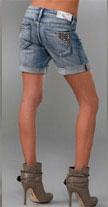 Blank Denim Studded Boyfriend Shorts