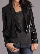 Samantha Dru Flyaway Sequin Jacket