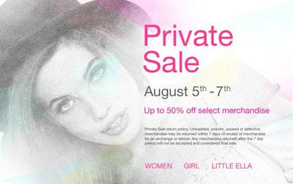 Ella Moss Private Sale