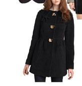 Leifsdottir Furry Wool Coat