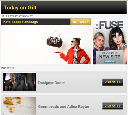 Sample Sales - Gilt Groupe Invite