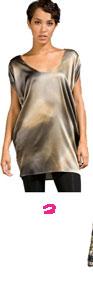 Crispin & Basilio Silk Zip Sleeve Dress in Acid Wash