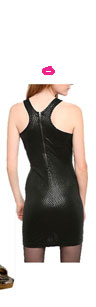 byCORPUS Sequin Zipper Back Dress