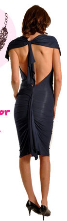 T-Bags Drape Neck Dress T-Back Dress