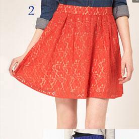 Oasis Lace Skater Skirt
