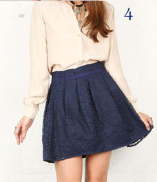 Paper Crown Lace Skirt