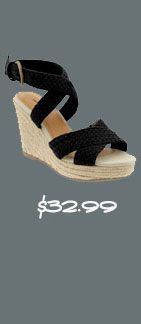 Old Navy Crochet Cross-Front Wedges