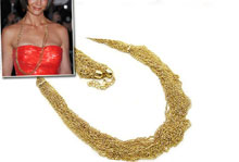 Charline's 40 Inch Gold Layered Multi Strand Necklace
