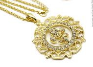 Lynn's 30 Inch Gold Fleur de Lis Necklace