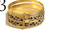 Yochi Leopard Bangles