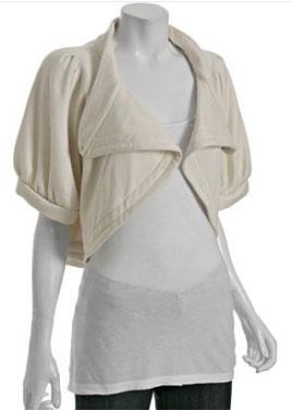 Leanne Marshall Natural Bamboo Pleated Jasmine Cropped Jacket