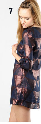 Mike Gonzalez Bourdin Silk Pyramid Jacquard Dress
