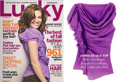 Cover of Lucky September 2009 Issue