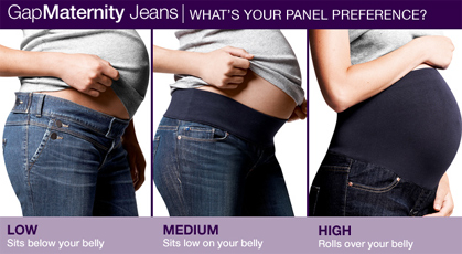 Maternity Jean Belly Panels