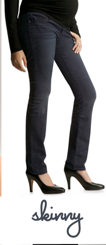 Gap Maternity Semi Demi Panel Skinny Jeans