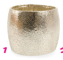 Natalia Brilli Gold Leather Cuff