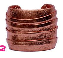 Marnie Bugs Deniz Cuff in Pleated Leather