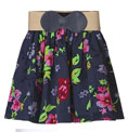 Plastic Island Floral Skirt with Belt
