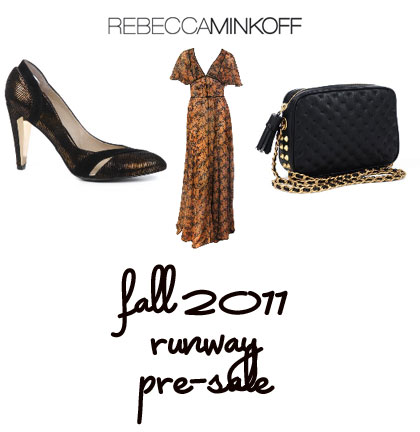 Rebecca Minkoff Fall 2011 Presale