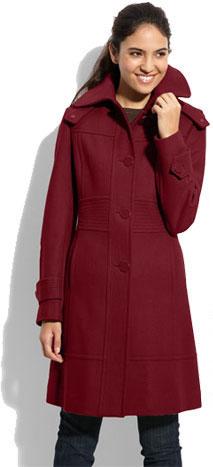 Kenneth Cole New York Melton Wool Coat