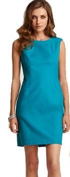 Elie Tahari Emory Woven Shoulders Sheath Dress