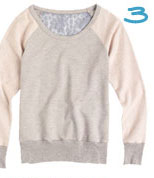Lace-Back Sweatshirt