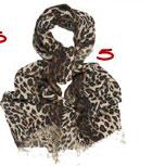 Tolani Leopard Print Scarf