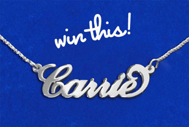 My Name Necklace Giveaway