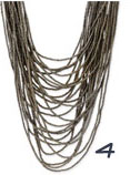 Cara Accessories Long Multi Strand Necklace