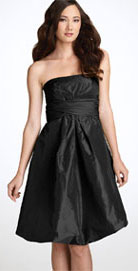 Donna Ricco Strapless Taffeta Bubble Dress