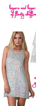 Alice + Olivia Iridescent Sequin Dress