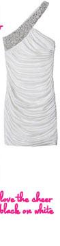White Draped Cocktail Dress