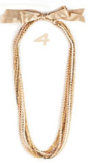 Golden/Pearl Multi Chain Necklace
