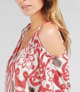 Ella Moss Tapestry Peep Shoulder Top