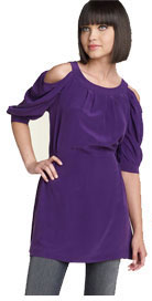 Ya-Da Strong Shoulder Silk Tunic