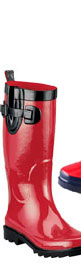 Clarks Red Rubber Rain Boot