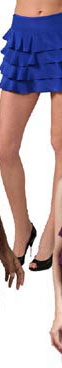 Mason by Michelle Mason Ruffle Miniskirt