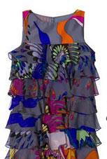 Tibi Dos Parajos Ruffle Dress
